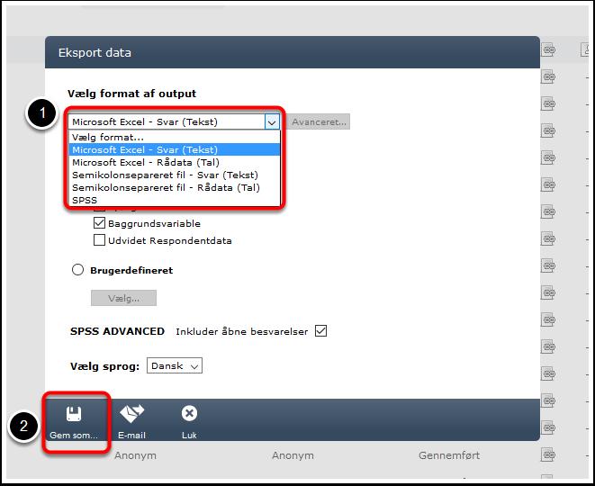 Eksporter din måling til Excel - Step 4