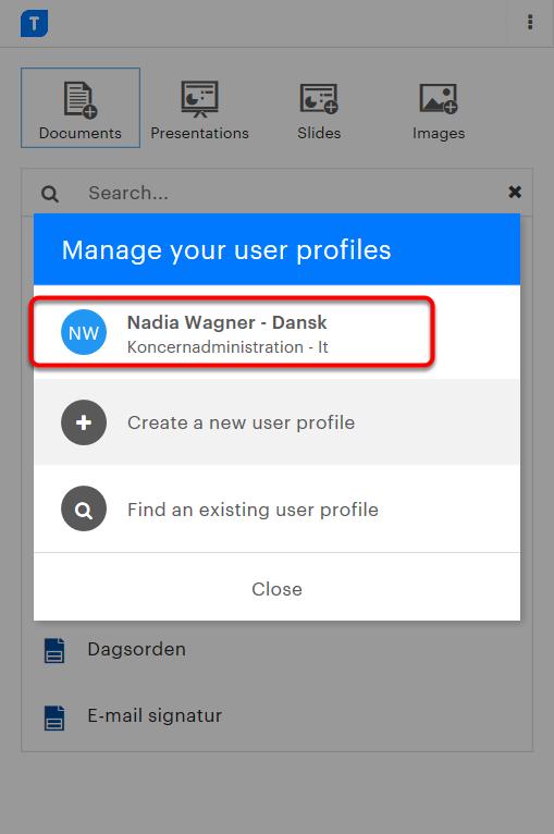 Din profil er nu opdateret