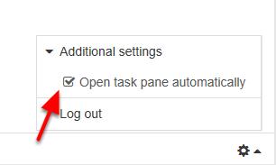 """Fjern fluebenet i """"Open task pane automatically"""""""