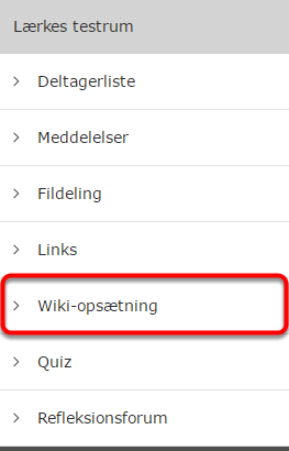 Du har nu adgang til Wiki-opsætning