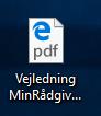 Højreklik på en pdf-fil der åbner i det forkerte program (oftest åbnes det i Edge)