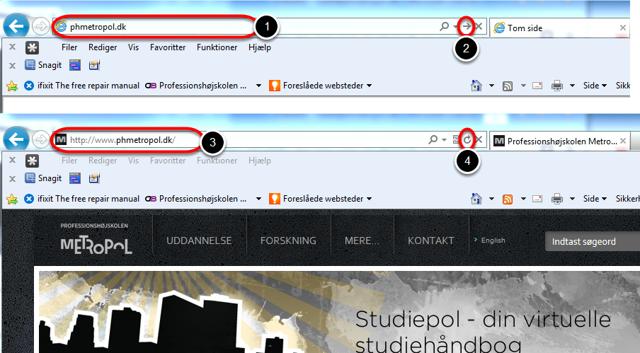 Åbn nu din browser (IE, Chrome, Firefox mf.)