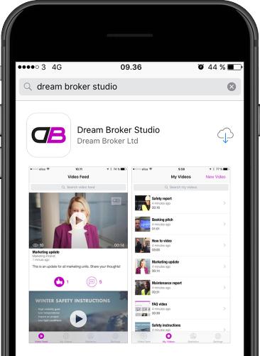 """Download nu appen """"Dream Broker Studio"""" på din smartphone"""
