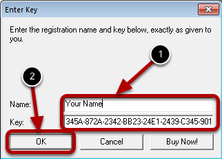 Enter the License Key