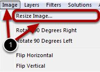 Opening the Resize Image Dialog