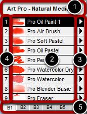 Understanding the Brush Shortcut Panel