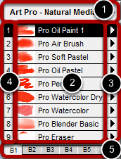 Understanding the Brush Shortcut Panel