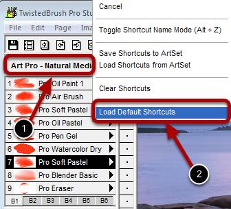 Resetting the Brush Shortcuts