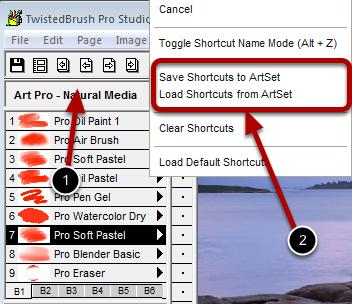 Saving and Loading Sets of Shortcuts