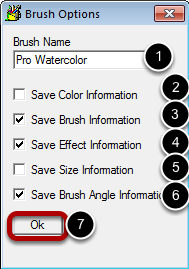 Brush Options Dialog