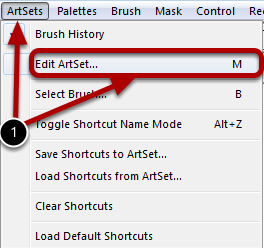 Launching the Edit ArtSet Dialog