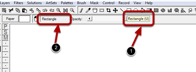 Step 2: Press and Hold the Shortcut Key for the Rectangle Tool