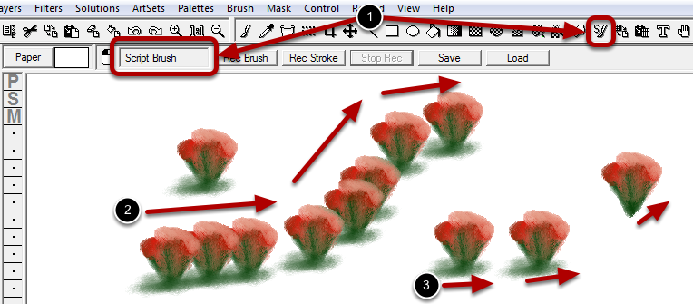 Using the Script Brush : Part 4 - Painting the the Script Brush