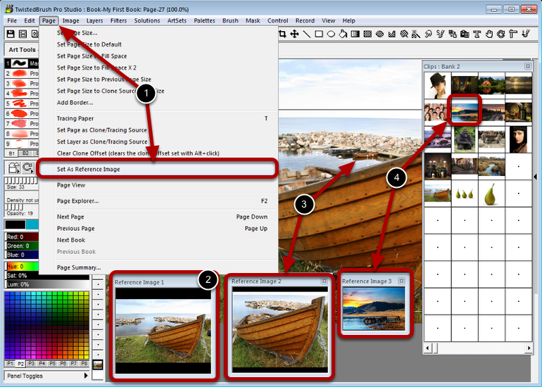 Setting a Reference Image