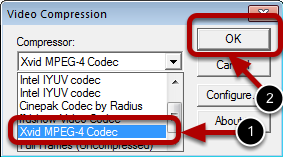 Step 3 : Selecting a Codec