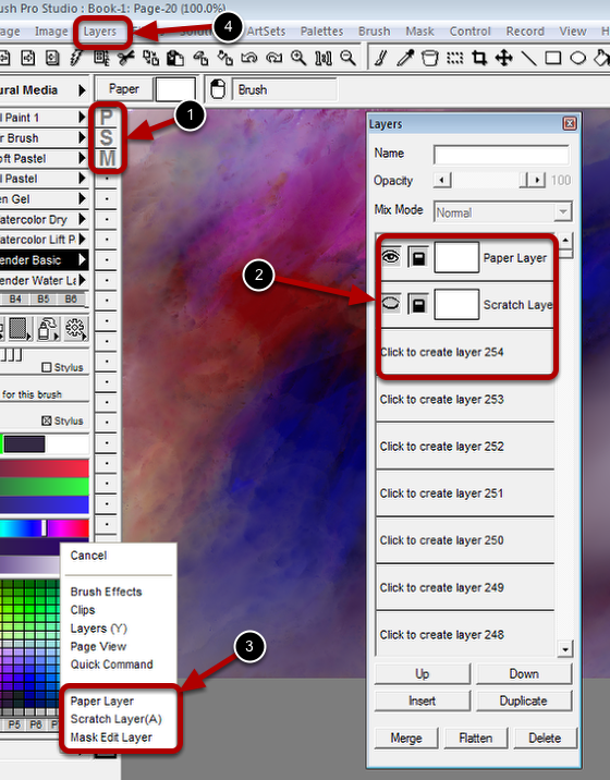 Selecting a special layer