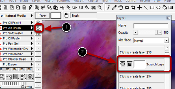Selecting the Scratch Layer