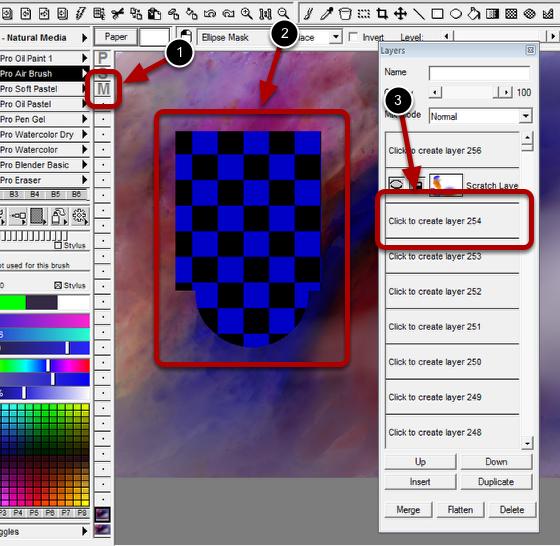Selecting a Mask Edit Layer