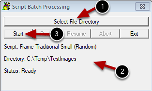 Select the Image Folder and Start Processing