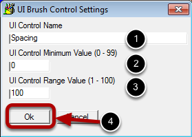 Configure the Brush Control Settings