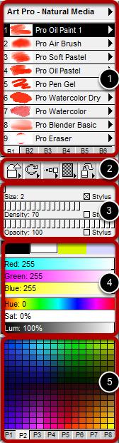 Standard Paint Control Panels