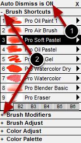 Popup Paint Control Panels