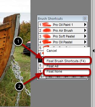 Docking Paint Control Panels