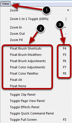 Additional Ways to Float Paint Control Panels