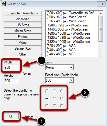 Set Page Size Dialog Edited