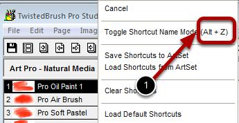 Shortcut Keys in Popup Menus