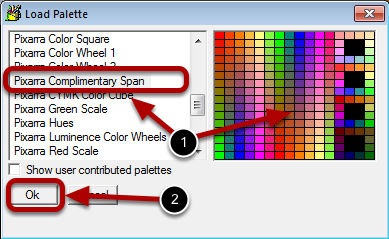 Step 2: Select the Palette to Load
