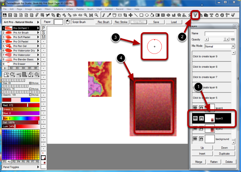 Use the Script Brush tool to Play Back the Edits on Other Layers