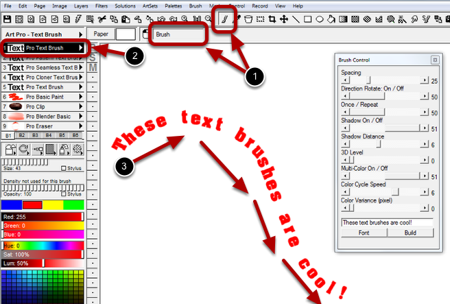 Step 4 : Paint Your Text