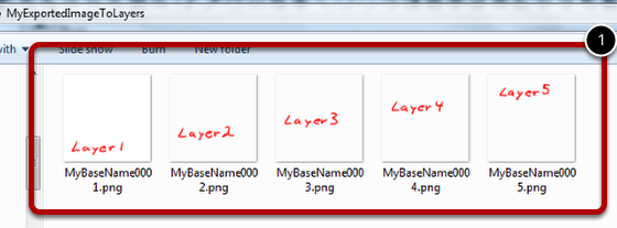 The Script Runs and Exports the Image into One File Per Layer