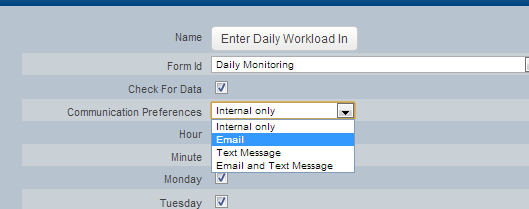 #4: Communication Preferences: choose whether you want the alert to be sent to the athlete's Internal Mail, External Email Account or via Text