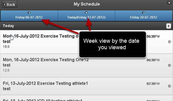 Previously the My Schedule Page displayed data based on the current day you were viewing