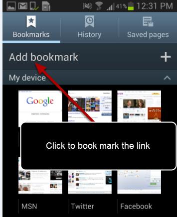 "Click on ""Add bookmark"""