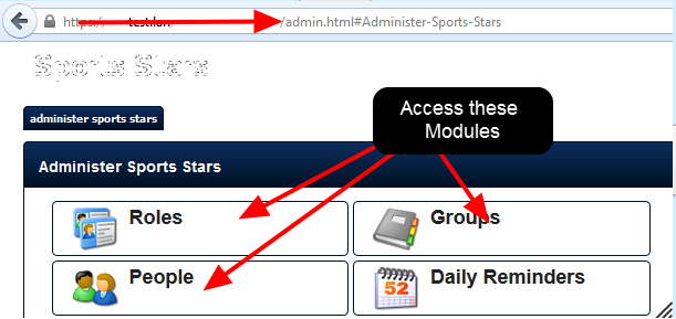 A User assigned with Group Administration access can login to the Administration Site and access a limited set of features with reduced functionality
