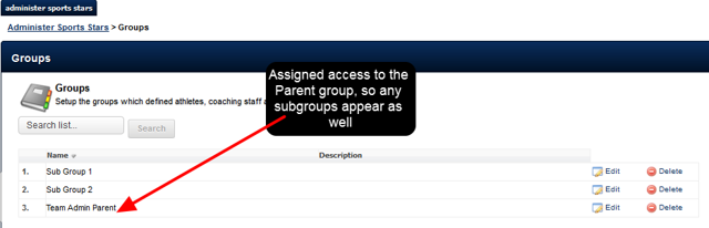 They can ONLY access users from the groups (and ALL subgroups for that parent group) they have are an Administrator of