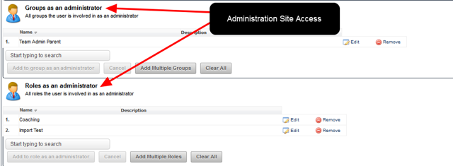 They can ALSO add this user to be an Administrator of Group/s and Role/s on the actual Administration Site