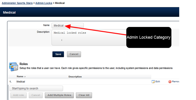 "WARNING: Do NOT set ANY roles that have been ""Admin Locked"" to be assigned to a Coach Administrator"