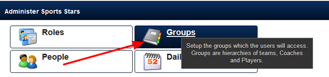 Editing an existing user's details can only be done via the Groups Module