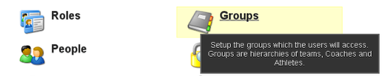 1. Click on Groups