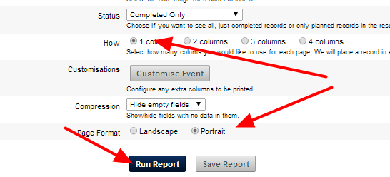 """Most importantly, click on 1 column of Data and select the """"Portrait View"""""""