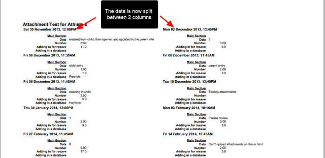 A 2 column layout will condense the data into two columns (e.g. all Event Form Fields running down the page).