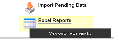 """Click on """"Excel Reports"""""""