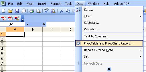 Build your pivot tables