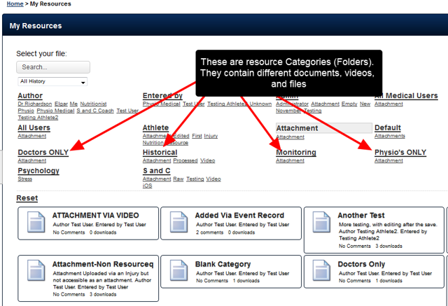 What is a Category? A Category is a preset Folder in which Resources and Attachment-Resources can be stored.
