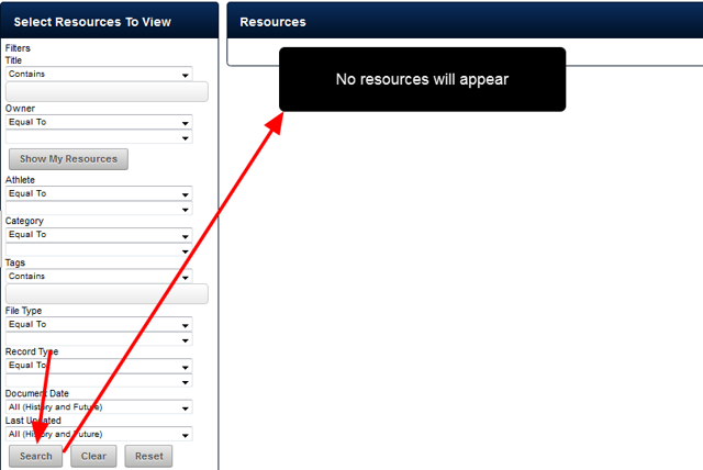 Once the My Resources Upgrade is rolled out, NO USER will be able to access ANY Resources on the system