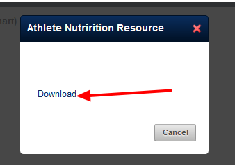 The user can click on the Resource from the Sidebar to download it
